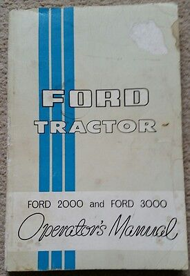 Ford 2000 3000 Tractor Operators Manual