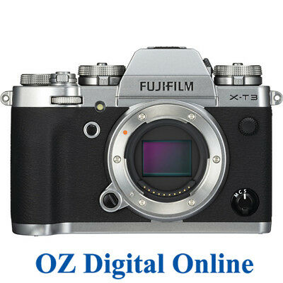 NEW Fujifilm X-T3 Body Silver Mirrorless 26.1MP 4K Wifi F-Log Camera 1 Yr Au Wty