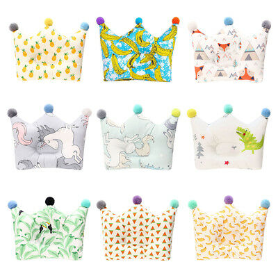 For 0-2 Years Infant Baby Crown Pillow Little Kids Shaping Pillows Portable -BM6