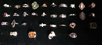 Huge Lot Of Over 30 Rings Vintage To Now Estate