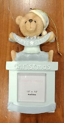 Babies first -christmas ornament , blue in colour