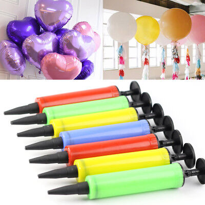 Mini Plastic Hand Held Pump Inflator for Balloons Party Favor Supply Gadget Xmas
