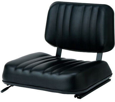 New Universal Two Peice Black Seat with Adjustable Slotted Slides, 690340
