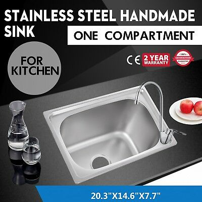 "Stainless Steel Hand Washing Sink 20""X14.5"" Kitchen Sinks Commercial"