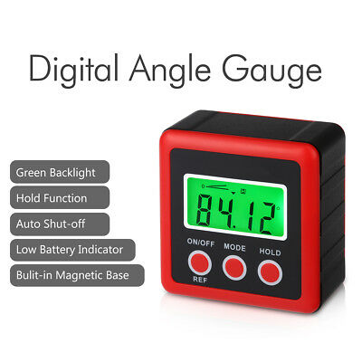 4x90° Digital Bevel Box Gauge LCD Backlight Display Angle Finder Protractor Tool