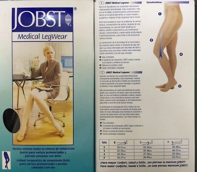 JOBST COMPRESSION PANTYHOSE 30-40 mmHg RELIEF SUPPORTS THERAPEUTIC CLOSED