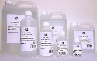 PURE DISTILLED WATER - Various Sizes 50ml to 5 Litre - Ultrapure and Filtered