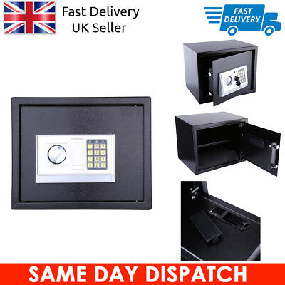 20L Steel Safe Digital Key Electronic Security Home Office Money Safety Box