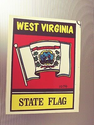 West Virginia State Flag  Travel Souvenir Luggage Sticker