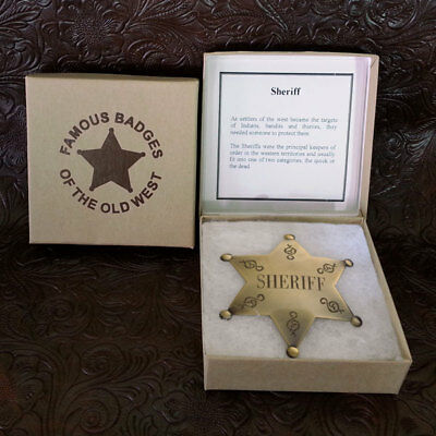 Sheriff Star Brass Badge (story inside the box)