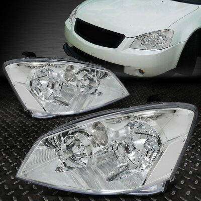 For 2005-2006 Nissan Altima Pair Chrome Housing Clear Corner Headlight/lamp Set
