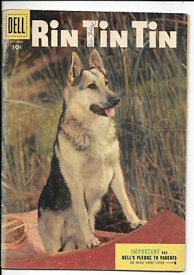"""No Reserve Sell Of * Dell Comics* """" Rin Tin Tin """" No. 10   From 1955"""