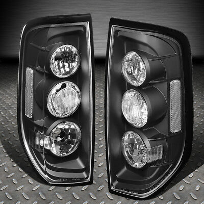 For 05-14 Nissan Frontier Pair Black Housing Tail Light Rear Brake/parking Lamps