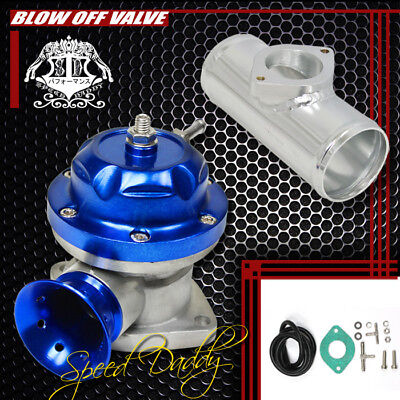 """Universal Billet Anodized Type-Rs Turbo Blow Off Valve Bov+2.5"""" Flange Pipe Blue"""