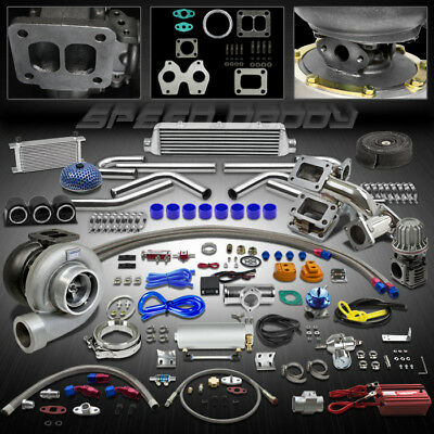 Gt45 24Pc T4 Turbo Kit Turbocharger+Manifold+Intercooler 86-91 Mazda Rx-7/Rx7 Fc