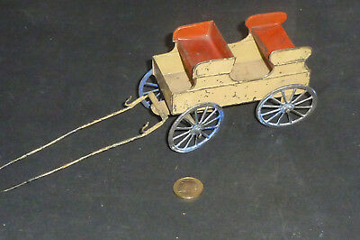 Uralte Kutsche aus Blech mit Zinn Rädern Tinplate Carriage with tin wheels SR ?