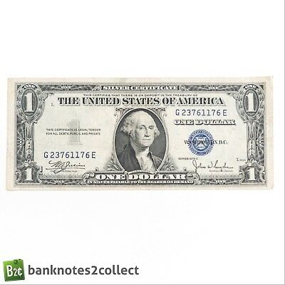 UNITED STATES: 1 x 1 1935C US Dollar Silver Certificate Banknote.