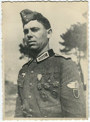 German Wwii Photo From Archive: Russian Soldier Serving In Wehmacht
