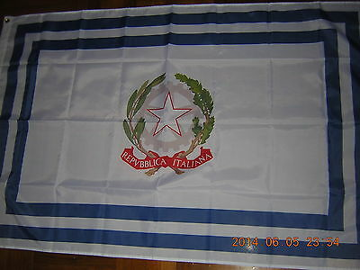 100% New Reproduced Italian Flag of civil authority of Italy Ensign 3X5ft Rome