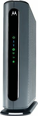 Motorola - Dual-Band Wireless-AC Router with DOCSIS 3.0 Cable Modem - Black