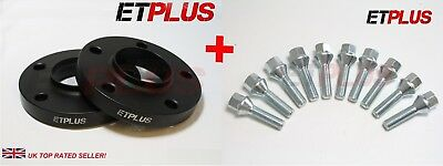2 x 25mm 5x120 72.6 Hubcentric Wheel Spacers c/w Bolts Fits BMW 5 Series E60 E61