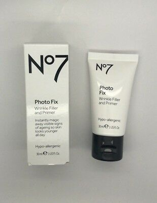 No7 Photo Fix Wrinkle Filler and Primer - 30ml - Brand New and Boxed