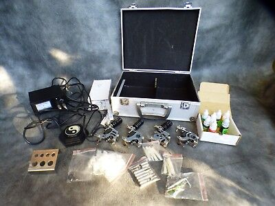A Good Tattoo Kit Complete With Four Guns,needles,power Unit,inks & Accessorie