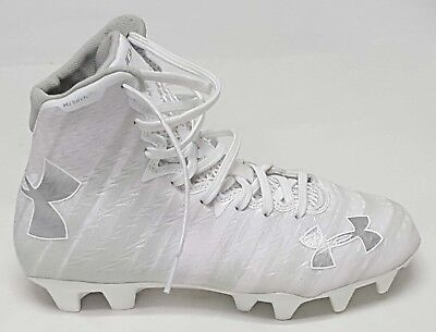 NEW Under Armour Sz: 6 White / Ele W Lax Highlight MC Lacrosse / Football Cleats