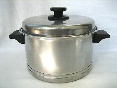 Vintage LIFETIME Stainless Steel COOKWARE 4 Quart STOCK POT~DUTCH OVEN~w/LID~PAN