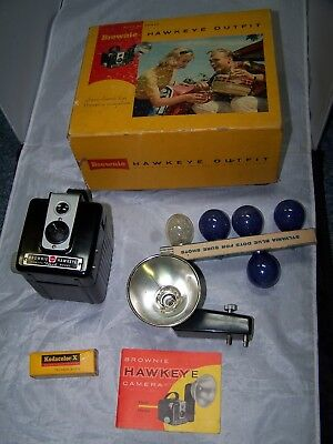 Vintage Brownie Hawkeye Outfit,  Flash Camera, Made by Kodak, No. 177 E with Box