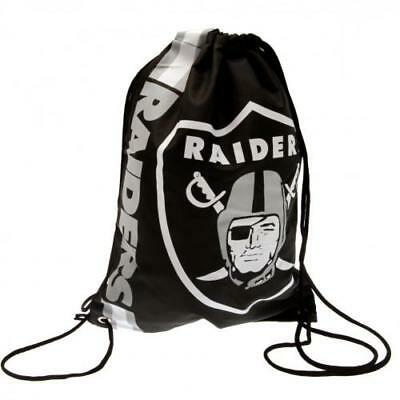 Oakland Raiders Gym Bag PE School NFL Black Fun Gift Official Licensed Product