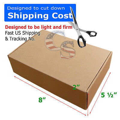 100 PCS  8x5½x2 Shipping Packing Mailing Moving Tapeless Boxes Corrugated Carton