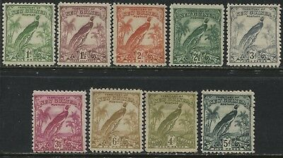 New Guinea 1932-34 definitives to 5d inclusive mint o.g.