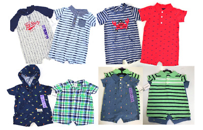 NEW Carters Baby Boy 2 Piece Short Sleeve Rompers Set- (Variety)