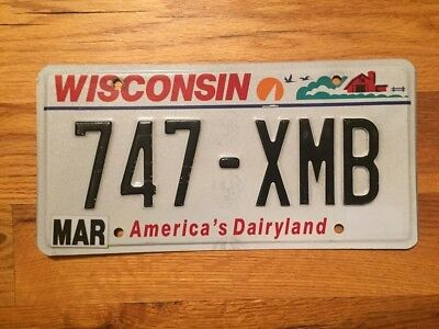 Wisconsin America's Dairyland License Plate / Tag ~747 Xmb~