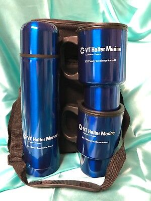 Thermos And Mugs In Insulated Bag