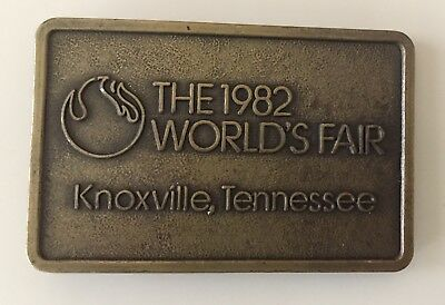 Vintage...1982 World's Fair...belt Buckle...brass...