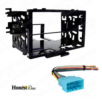 95-7801 Double Din Radio Install Dash Kit & Wires for Honda, Car Stereo Mount