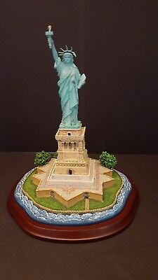 """Statue of Liberty figurine by Danbury Mint 11 in. tall, 8"""" wide at base"""