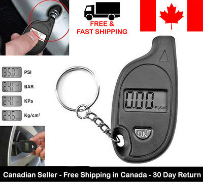 Digital Tire Air Pressure Gauge Meter Tester Battery Auto Car Bike Check PSI