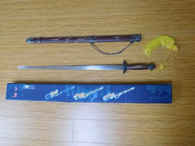 "37.5"" Kung Fu Tai Chi Sword Brass Detailing Heavy Duty Dragon Engraved Scabbard"