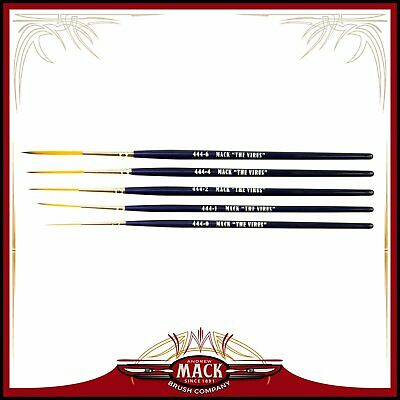 Andrew Mack Series 444 The Virus Scrolling Script Pinstriping Brushes All Sizes