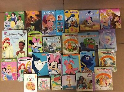 Lot of 25 Disney Board Toddler Hardcover Picture DayCare Child Book UNSORTED K17