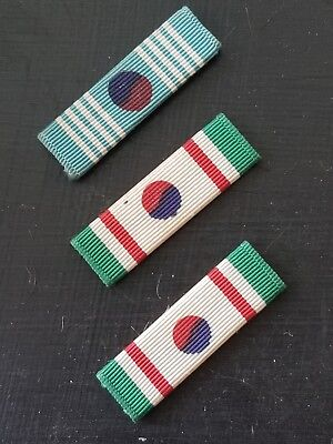 WWII US Army Navy Marine Korean Order of Merit Taeguk Ribbon Bar Set RARE!!!