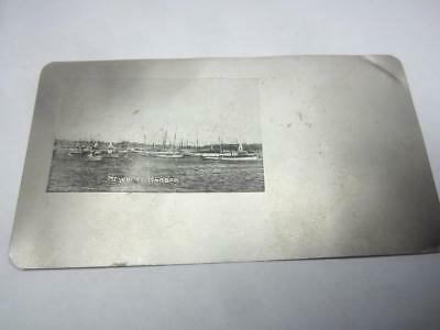 Rare Aluminum PC Postcard Newport Harbor RI    P1