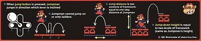 Nintendo Donkey Kong Arcade Game Instructions decal