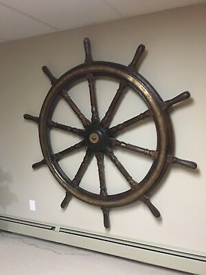Antique Late 1800's Ships Wheel