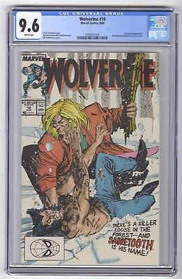 Wolverine #10 CGC 9.6 HIGH GRADE Marvel Comic Classic Sabretooth Fight Cover