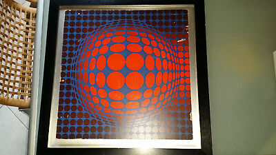 Space Age  VEGA   Era Victor Vasarely  Optical Art  Astrattismo  Stampa