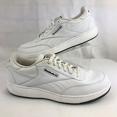 new product d4e3f bd3b6 Reebok CL Ace Classic White Leather Tennis Court Athletic Shoes Mens Size  13011